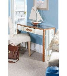 CAPE VERDE Mirrored Dressing Table with 2 Legs