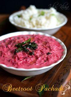 Beetroot Pachadi | Beetroot Raita | Onam Sadya Recipe   Pretty and pinkish Kerala Style Beets Pachadi (Yogurt Dip)