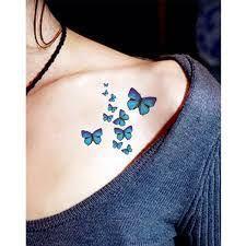 Resultado de imagen para borboletas azul tatuagem pé
