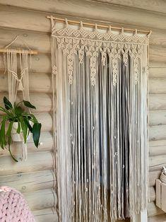 Macrame Curtain, Beaded Curtains, Diy Curtains, Hanging Curtains, Panel Curtains, Valance, Bead Curtain Doorway, Thermal Curtains, Curtain Panels