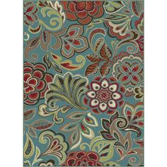 Tayse Rugs Deco Blue 7 ft. 10 in. x 10 ft. 3 in. Transitional Area Rug-DCO1023 8x10 - The Home Depot