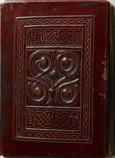 The St Cuthbert Gospel (British Library, London) was produced in the North East of England in the late 7th century and was placed in St Cuthbert's coffin on Lindisfarne, apparently in 698. The Gospel was found in the saint's coffin at Durham Cathedral in 1104. It has a beautifully worked original red leather binding in excellent condition, and it is the only surviving high-status manuscript from this crucial period in British history to retain its original appearance, both inside and out.