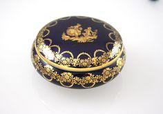 Limoges Blue Porcelain Box