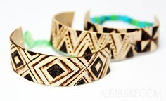 Something that has been on my craft project to do list for a while is bending popsicle sticks into bracelets. Since they are wood and sin...