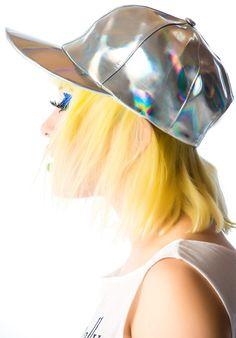 Lip Service Hello Hologram Cap | Dolls Kill