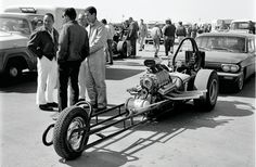 The Golden Age Of Drag Racing Part 1: World's Fastest Tricycle. Tin-bender Kenny Ellis's unique slingshot is illustrative of the period's minimal mechanical restrictions and the unbridled innovation that resulted. This is at the '63 March Meet