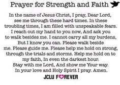 Prayer for strength and faith