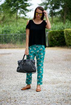Harem pants + asymmetrical top + balenciaga