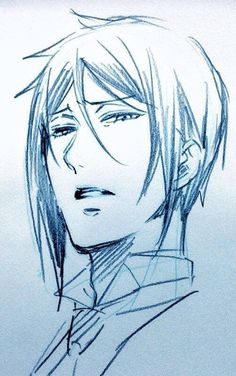 Black Butler, Sebastian Michaelis sketch. Not sure if this is Yana's or not, but it looks like it.