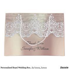 Personalized Royal Wedding Rose Metallic Pink Gold