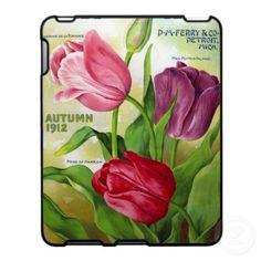 Vintage Seed Catalog Tulips iPad Case