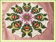 pattern bead danish weaving doily miss grenouille by dadanyperles