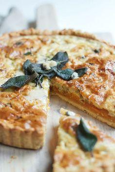 pumpkin + gorgonzola quiche
