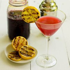 Grilled Lemon Cherry Drop Martini | Magnolia Days