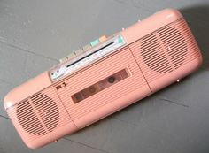 In the 80's, I had this exact boom box in mint green. I recorded many a song from the radio on this | http://your-cartoon-photo-collections.blogspot.com