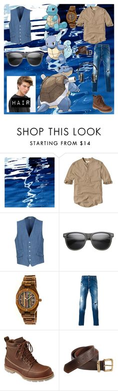 """squirtle wartortle and blastoise"" by carmen-41-navarro ❤ liked on Polyvore featuring Art Addiction, Hollister Co., Manuel Ritz, ZeroUV, Earth, Dsquared2, L.L.Bean, Carhartt, Master & Dynamic and men's fashion"