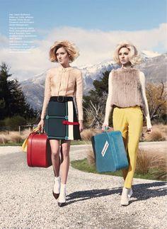"""Twin Peaks"": Melissa Johannsen & Emilia Skuza by Nicole Bentley for Vogue Australia"