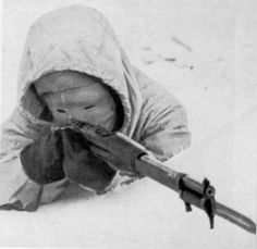 "Simo Hayha, ""The White Death"" is considered to be the most effective sniper in Human History. He served in the Finnish Civil Guard during the Winter War with the Soviet Union in 1939-1940. Over the course of 100 days on the Kollaa Front, Hayha killed 705 Soviet Soldiers, including 542 with his bolt-action M28-30 Mosin Nagant carbine. He also refused to use a scope, making all of his kills with traditional iron sights."