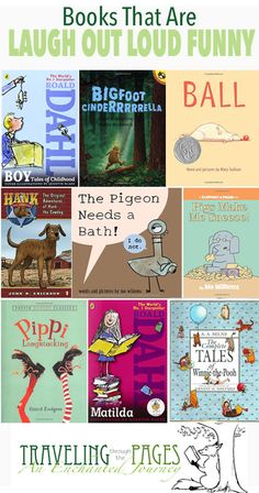This great list of laugh out loud funny books for kids includes selections for both younger and older readers featuring characters you love plus new friends. Good Books, Books To Read, My Books, Reading Resources, Book Activities, Sequencing Activities, Funny Books For Kids, Funny Children's Books, Summer Reading Program