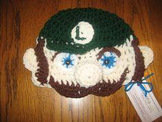 Luigi crochet hat for little cancer patient