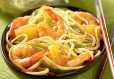 Nouilles sautees aux crevettes - Cuisine et recettes du maroc