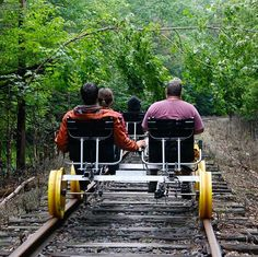 You Can Now Ride 'Train Bikes' Through The Forest Near Montreal - MTL Blog