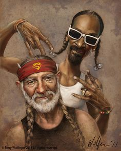 Tattoos Discover Willie Nelson and Snoop Dogg Art by Terry Wolfinger Funny Caricatures Celebrity Caricatures Cheech Y Chong Weed Wallpaper Marijuana Art Stoner Art Weed Art Caricature Drawing Hip Hop Art Funny Caricatures, Celebrity Caricatures, Cheech Y Chong, Weed Wallpaper, Stoner Art, Stoner Quotes, Marijuana Art, Weed Art, Caricature Drawing