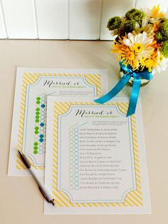 10 Wedding Shower Games and Activities: a href=http://img.diynetwork.com/DIY/2013/05/07/DO_NOT_RESIZE_bridal_shower_married_or_not_married_-_tomkat_studio.pdfstrongDownload and print the list of celebrity couples/a./strong Give each guest one of the lists and a pen and ask them to guess if the couple is married or not married. The guest who gets the most correct answers wins. From DIYnetwork.com