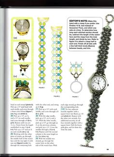 Album Archive - Bead and Button creative beading Bead Jewellery, Jewelry Making Beads, Beaded Jewelry, Diy Jewelry Projects, Jewelry Crafts, Bracelet Crafts, Bracelets, Beaded Watches, Beaded Braclets