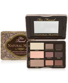 Too Faced's Natural Matte eye shadow palette comes complete with a glamour guide on how to create the day, classic or fashion beauty look. Switch up your eyeshadow depending on your mood or outfit!