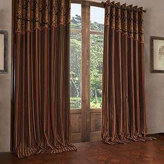 Two Panels  Michelle Luxury® Modern Stripe Polyester Energy Saving Curtain Drape – CAD $ 149.20