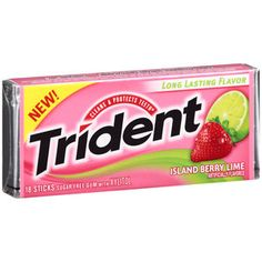 Trident Gum in Island Berry Lime