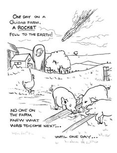 Guida's Supercow Coloring Pages (2)