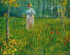 Vincent van Gogh (1853-1890) Woman Walking in a Garden