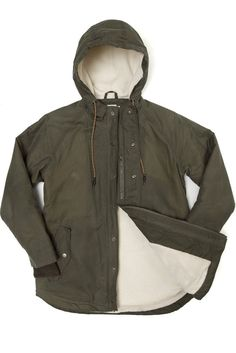 Sequoia Parka for Women. British Millerain waxed cotton w/ Polartec fleece lining.