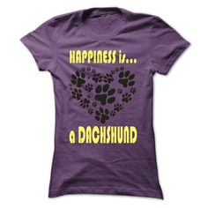 Limited Edition Happiness is a Dachshund
