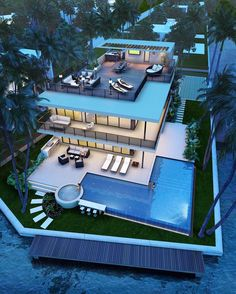 Best Ideas For Modern House Design & Architecture : – Picture : – Description Pompano Beach new construction Modern Mansion, House Goals, Pool Designs, Modern House Design, Glass House Design, Interior Architecture, Luxury Interior, Luxury Decor, Room Interior