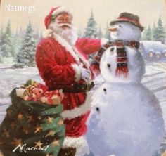 SANTA SNOWMAN CHRISTMAS PLACEMATS & COASTERS SET~MACNEIL~TRADITIONAL~FREE PP UK