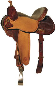 Lisa Lockhart Contender -  Flex2 tree. Rich Mahogany color showcases the brass spot trim around the skirts and cantle. Antique brass conchos. Allow your horse freedom of movement and keep you close to the horse for control. Low profile fit for close contact with your horse, Grip-Rite close contact skirt liner for grip and no slip, pre-shaped fenders for rider comfort with rubber grip treads on aluminum stirrups to keep feet secure.