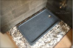 Living'ROC UK This Grey Granite Bathroom Shower Tray is a rectangular Genuine Natural stone tray. Also available in Black granite Granite Shower, Granite Bathroom, Bathroom Gray, Bathroom Sinks, Bathrooms, Shower Base, Have A Shower, Natural Stone Bathroom, Natural Stones