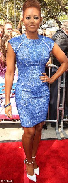 Mel B at America's Got Talent season 8 in 2013. Love her dress!