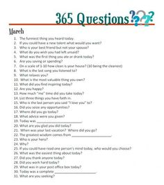 365 Questions - March @ get it scrapped