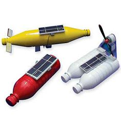 Solar powered boats - recommended for ages 10 and up