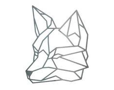 Geometric Fox Steel Geometric Fox Fox Wall Art by FactoryCustomFab                                                                                                                                                                                 Más