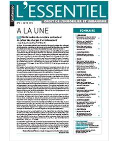 Ugo, Emilie. Ordonnance portant réforme du droit des contrats: les apports majeurs en matière «précontractuelle». L'ESSENTIEL Droit de l'immobilier et urbanisme, 01/04/2016, n° 4, p. 2.En ligne http://www.lextenso.fr.doc-distant.univ-lille2.fr/weblextenso/revue/revue?ref=EDUC