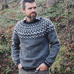 Left Side Of Body, Ravelry, Fair Isle Knitting Patterns, Icelandic Sweaters, Fair Isles, Pullover, Hats For Men, Pulls, Basket Weaving
