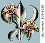 I like the fleur de lis rose tattoo idea.
