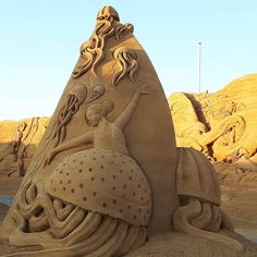 Sondervig Sand Sculpture Festival Sand Sculptures!  :)