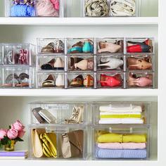 Storage Bins for Closet Shelves . Storage Bins for Closet Shelves . My Closet Reveal Closet Shoe Storage, Closet Drawers, Closet Shelves, Storage For Shoes, Shoe Closet Organization, Lingerie Organization, Bed Drawers, Basket Drawers, Shoe Racks