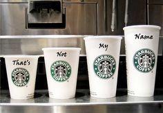 Dünya üzerindeki hangi Starbucks'a giderseniz gidin, kahvenizin üstüne adınızı yanlış yazan birileri mutlaka vardır. Peki bu yanlışlığın bilinçli yapılmış olabileceğini hiç düşündünüz mü? 'Glabal Bir Hatadan, Yüksek Etkileşime' yazımız Smartis Blog'ta... http://kisa.si/YuksekEtkilesim